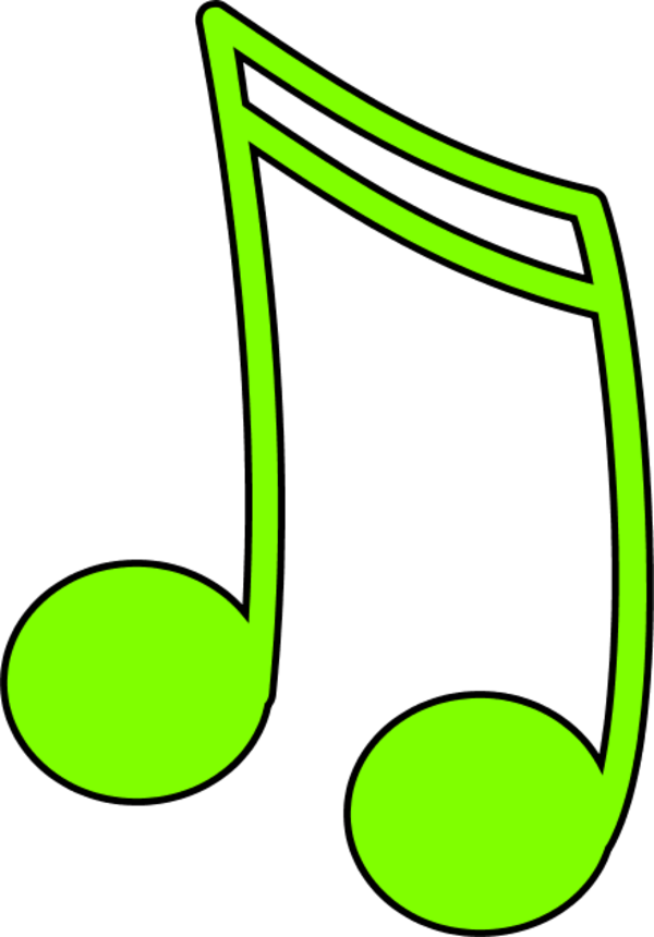 color music notes clipart #15