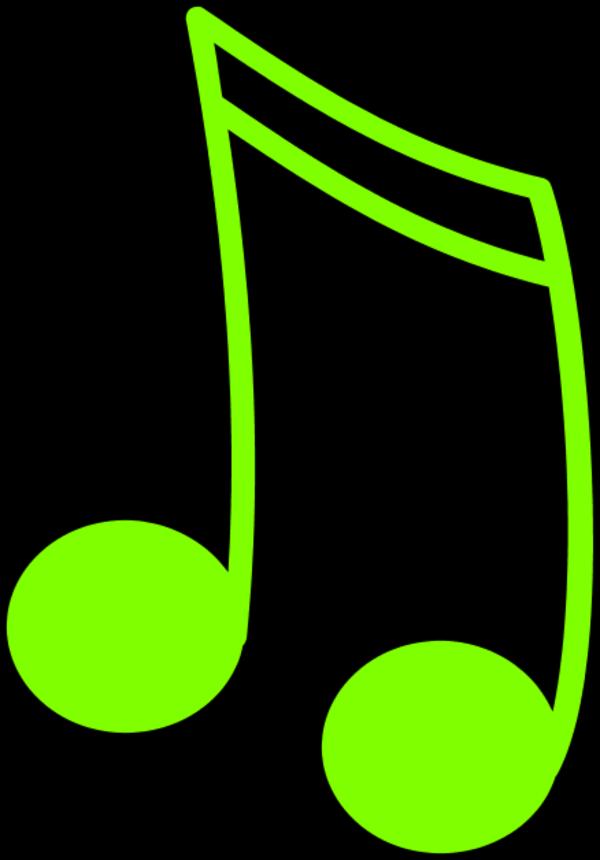 Music Notes Clip Art Color.