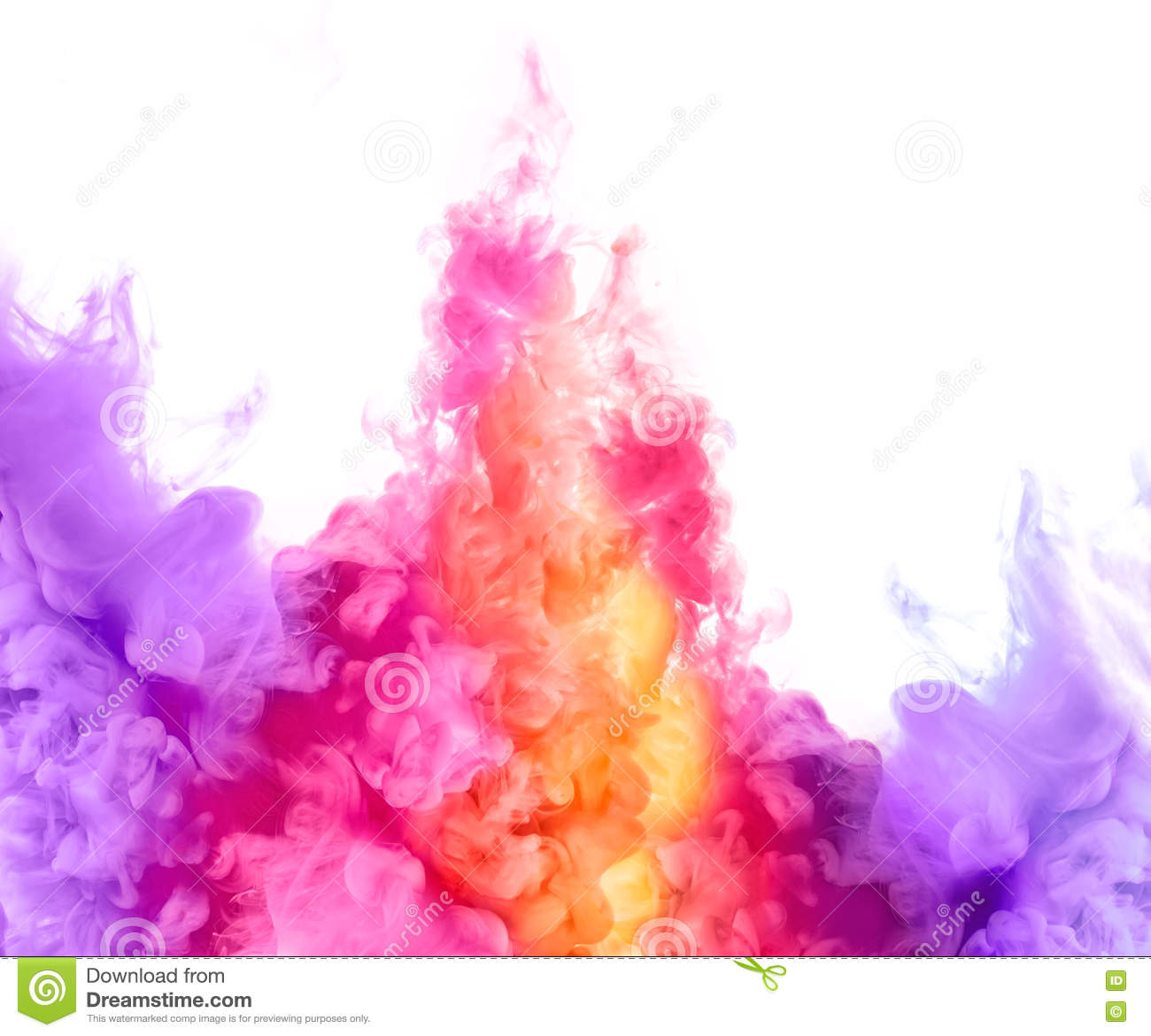 Paint Pigment Cloud Explosion Stock Photos.