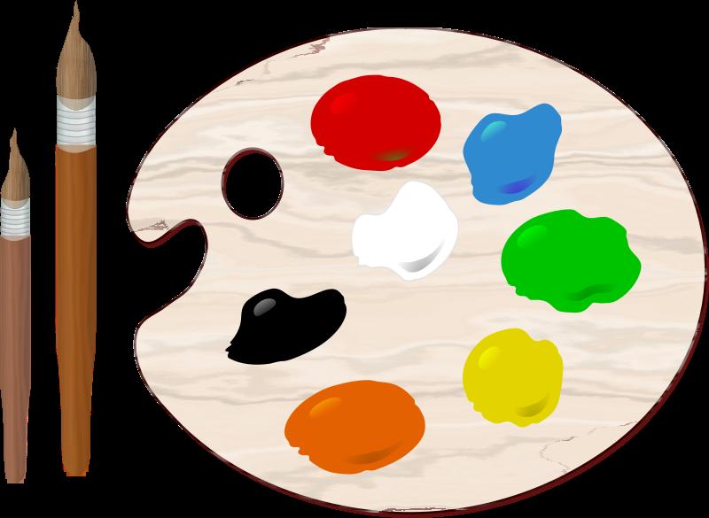 Color Palette Clipart.