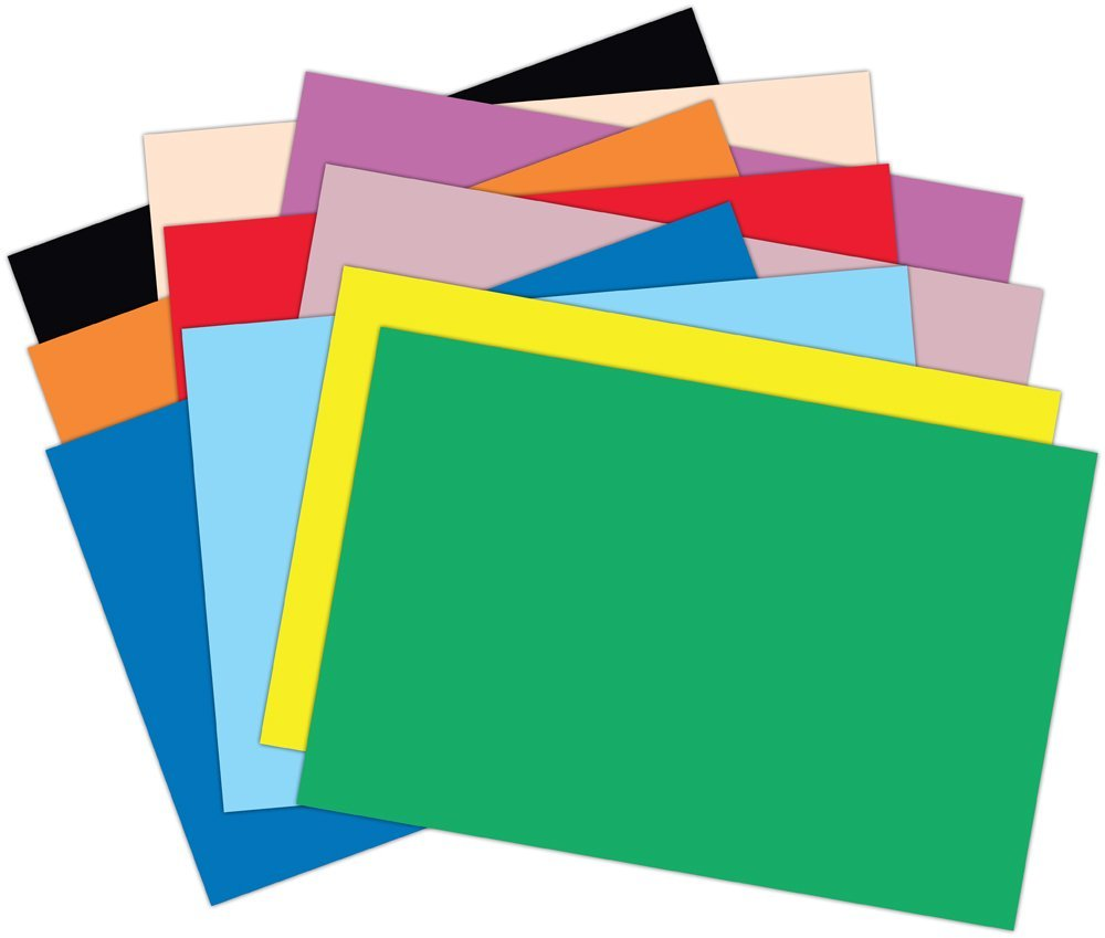 Coloured Paper Clipart.