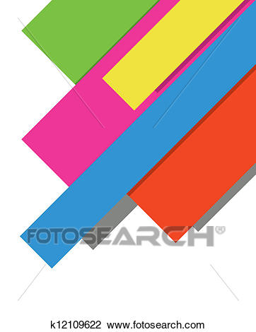 Color paper notes Clipart.