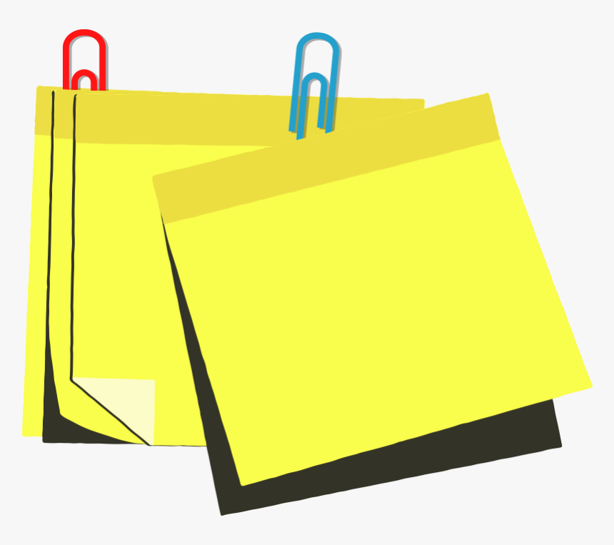 Vector Notes Sticky Note Clipart , Png Download.