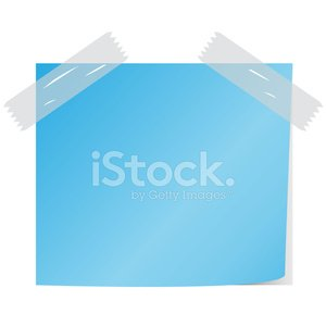 blank blue color paper note vector Clipart Image.