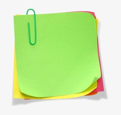 Color Paper Notes PNG, Clipart, Cartoon, Color Clipart, Note.
