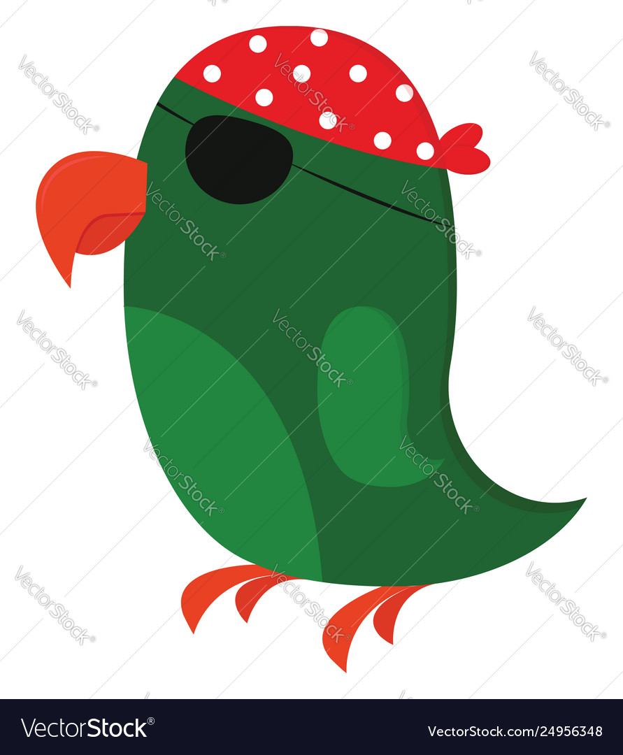 Clipart a green pirates parrot or color.