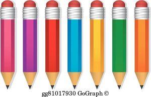Colored Pencil Clip Art.