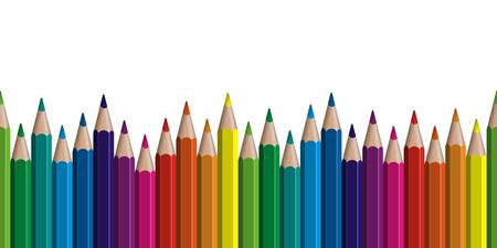 15,726 Colored Pencil Stock Vector Illustration And Royalty Free.