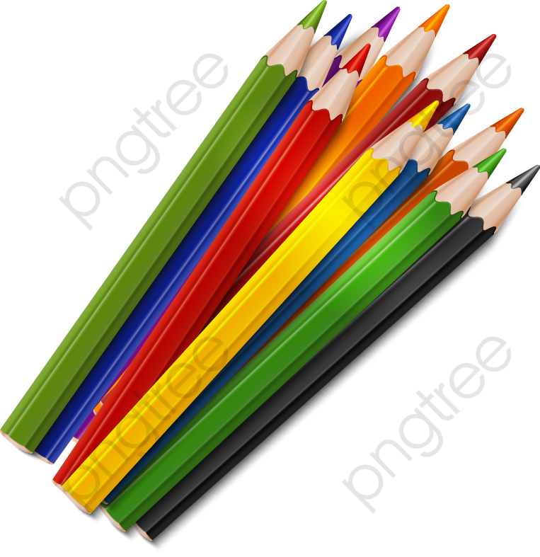 Colored Pencils, Education, School, Pencil PNG and Vector with.