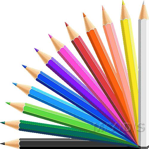 Color pencils clipart.