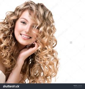 Color Perm Hair Clipart.