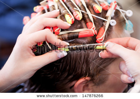 Permed Hair Stock Images, Royalty.