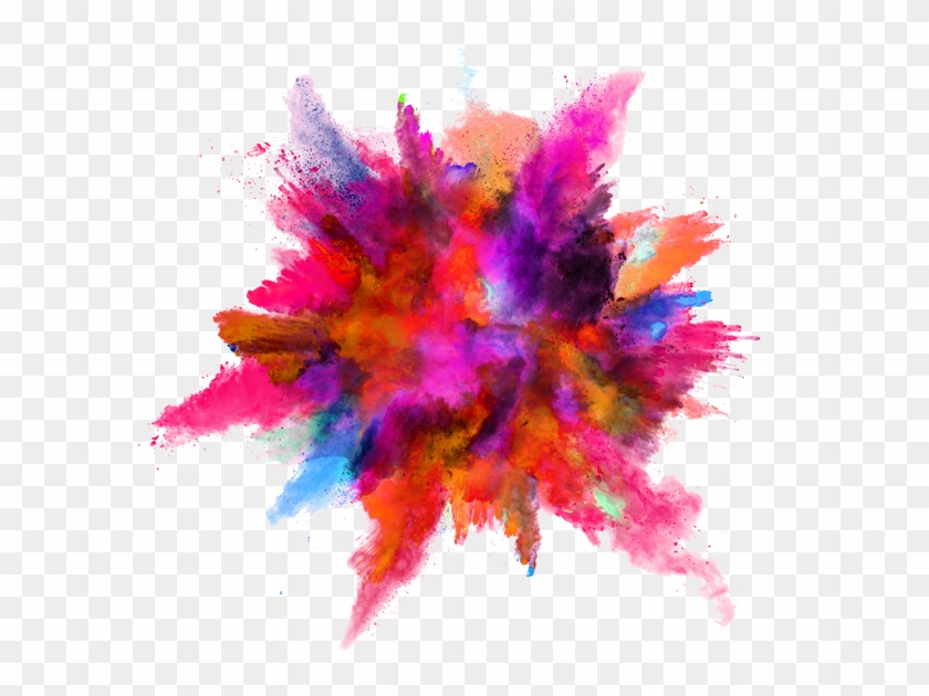 Color Splash Explosion Powder Ink Download Hq Png Clipart.
