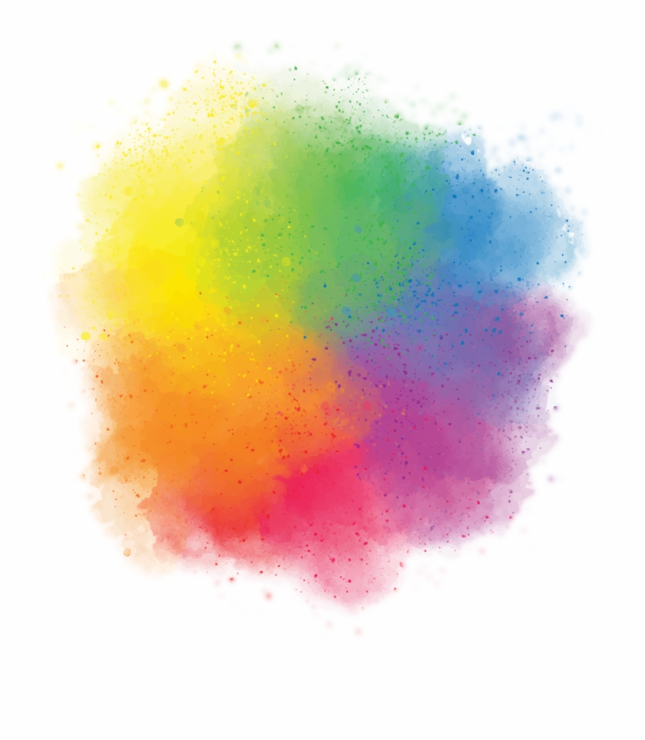 Color Smoke Holi Png Image.