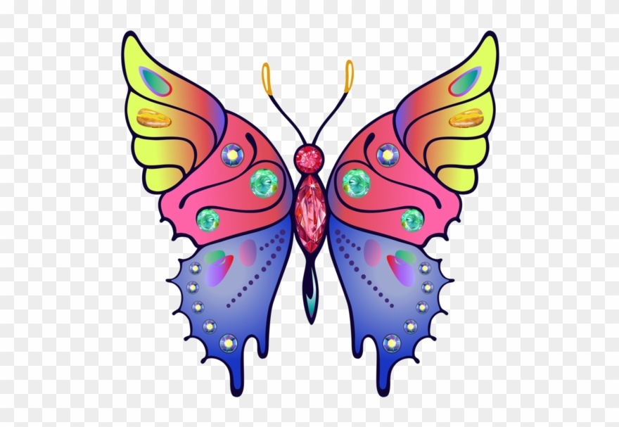 Butterfly Grey Clipart Color.