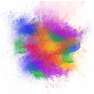 Colorful Paint Splash PNG Images.