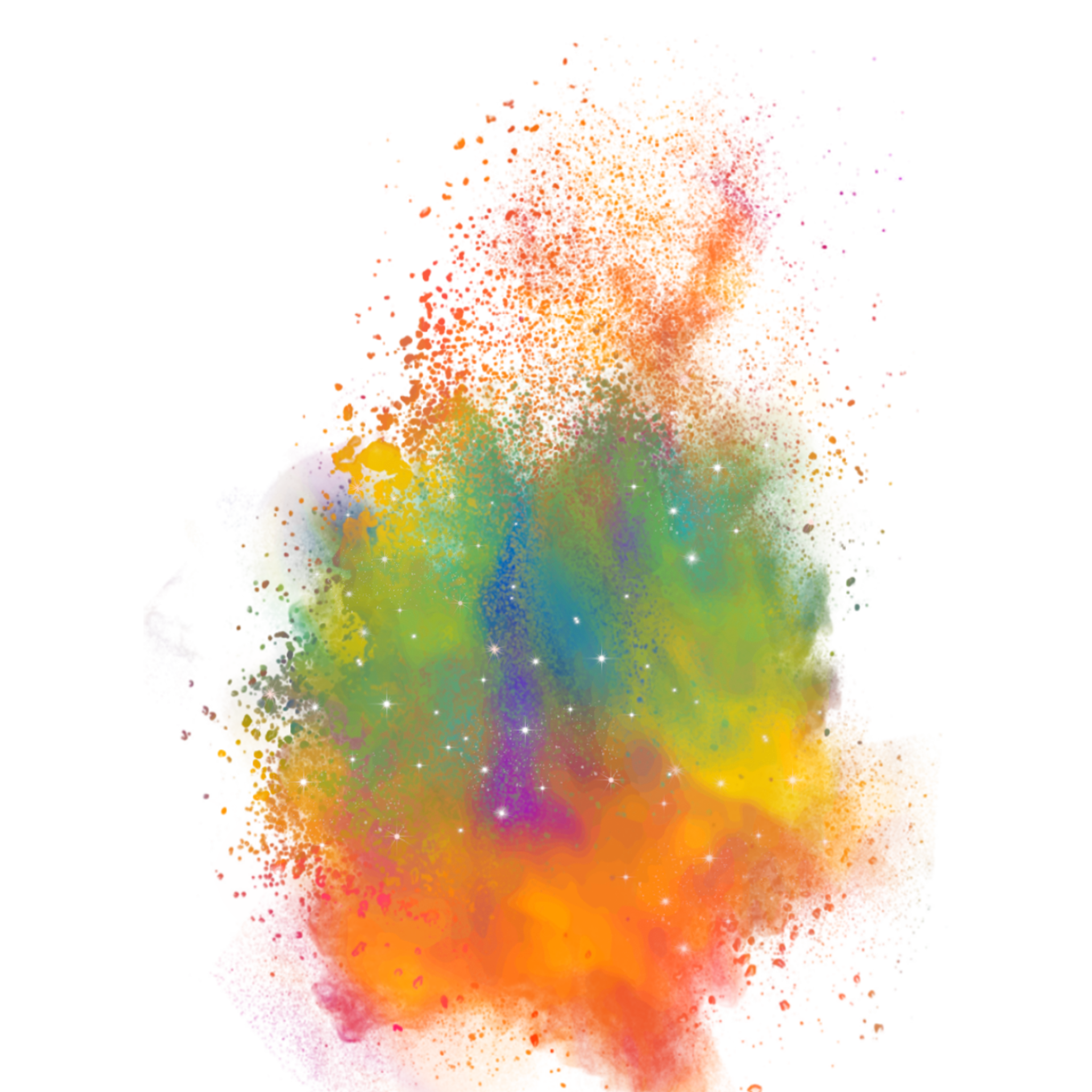 Color Dust Explosion Png.
