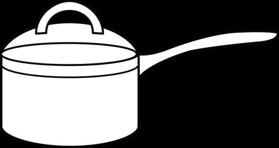 Pot outline clipart.