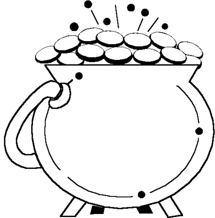 brilliant printable coloring pages with pot of gold page