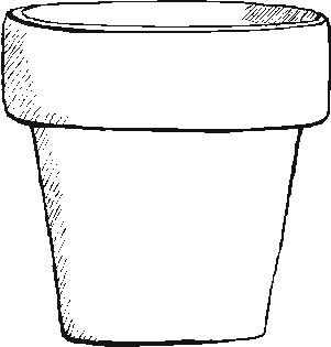 Coloring Pages Of Flower Pots.