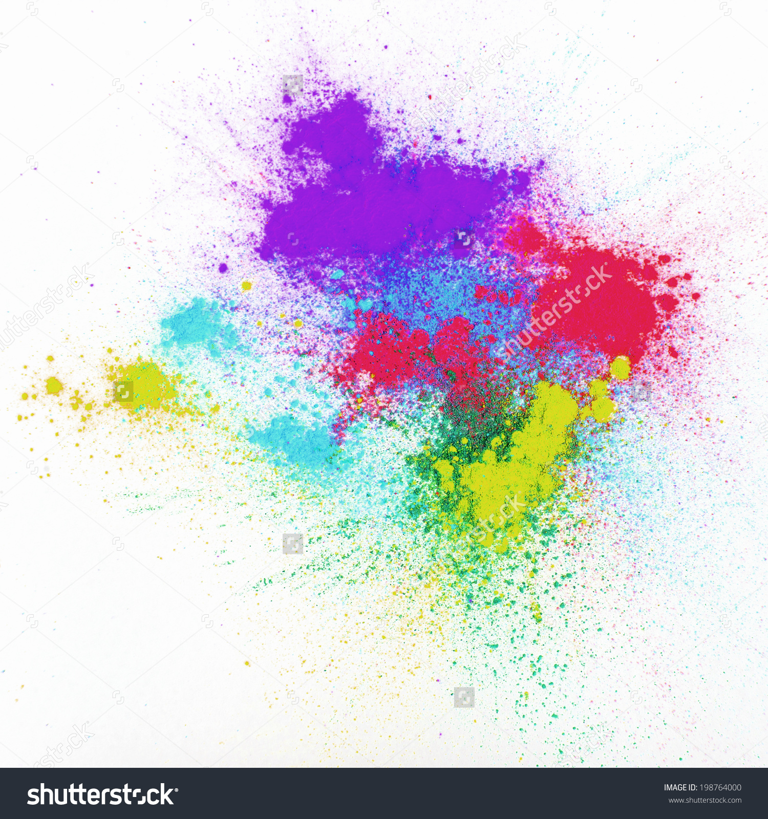 Color Powder On White Background Stock Photo 198764000.