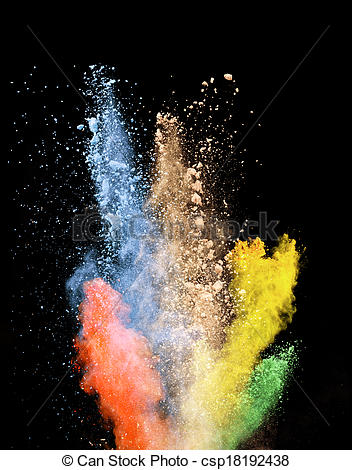 Stock Photos of colored dust.