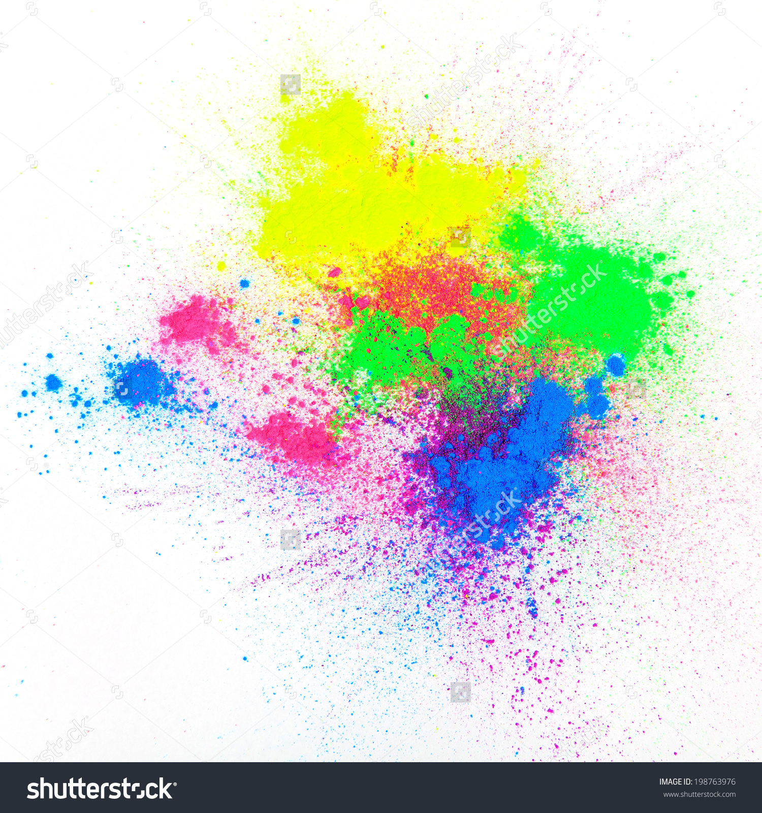 Color Powder On White Background Stock Photo 198763976.