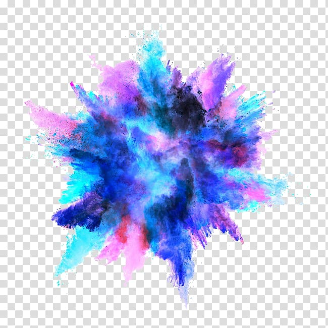 Color Explosion, explosion transparent background PNG.