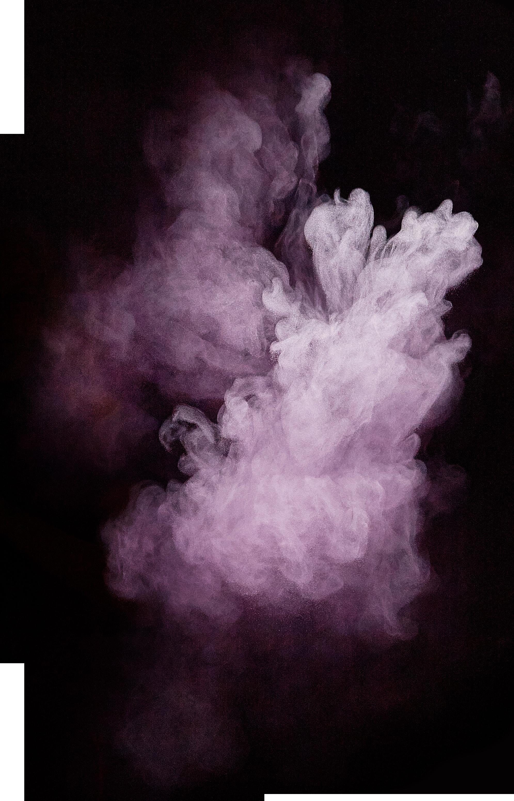 Purple Powder Explosion PNG Image.