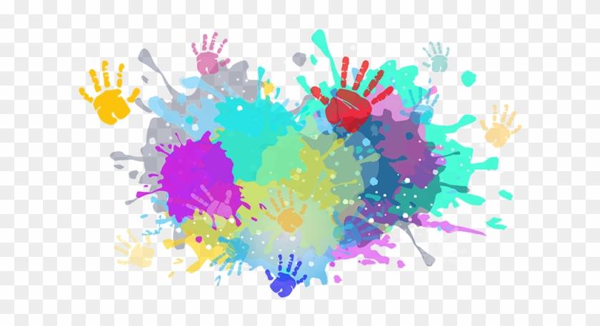 Colorful Colors Color Powder Splash Indian Ⓒ.