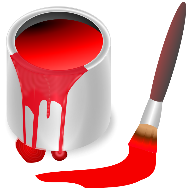 Free Clipart: Color bucket red.
