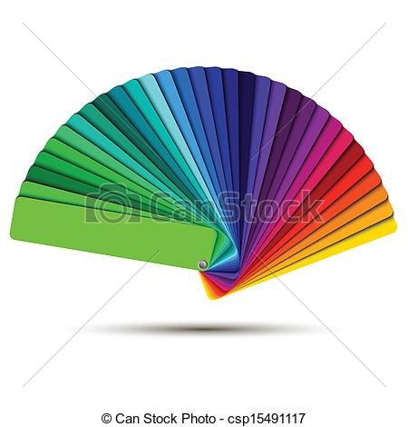Vector Clip Art of Color palette isolated on white background.