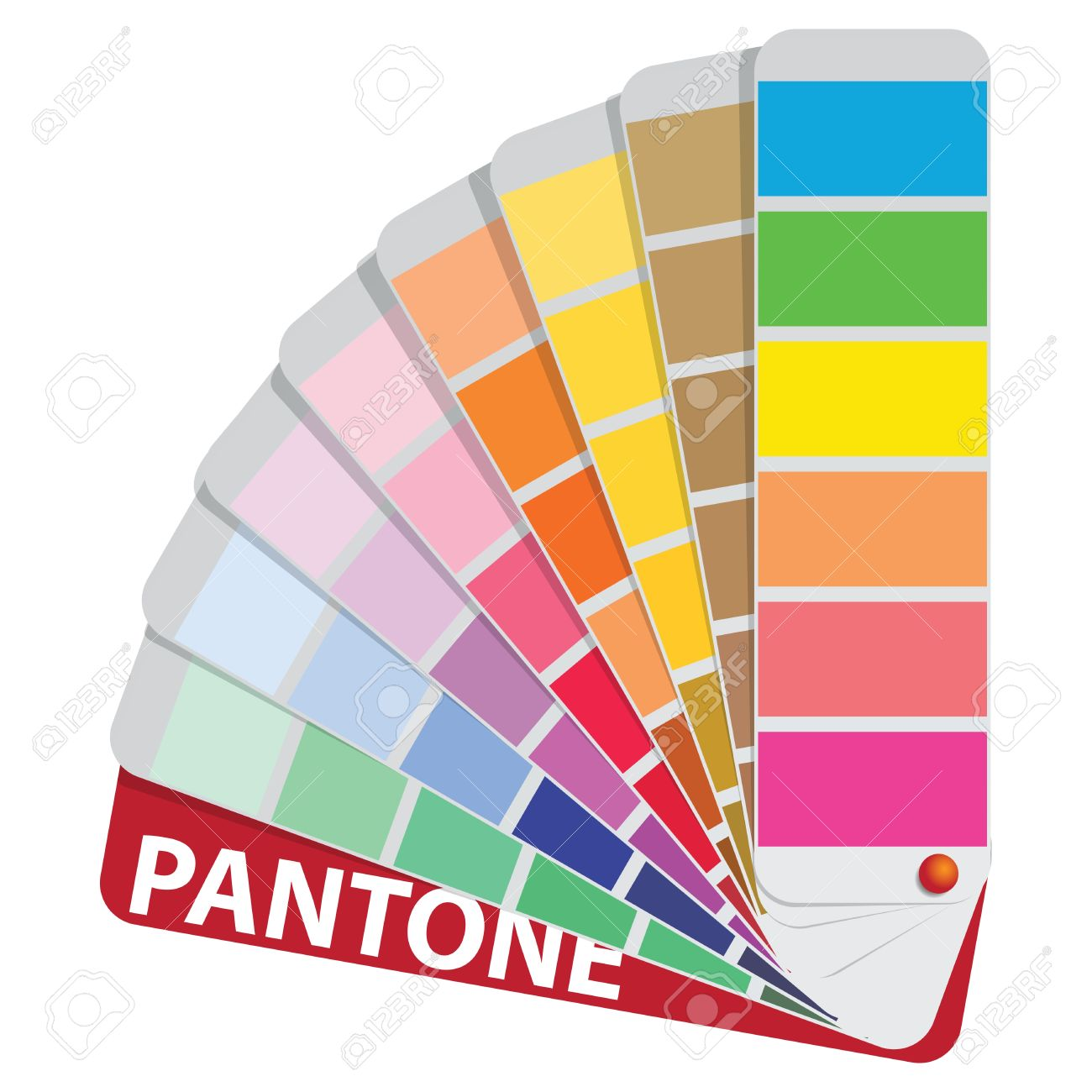 Color Samples To Determine Preferences In The Printing Industry.