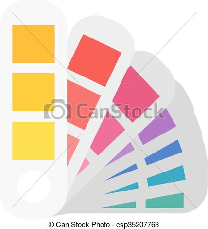 Clip Art Vector of Layout color samples to determine preferences.