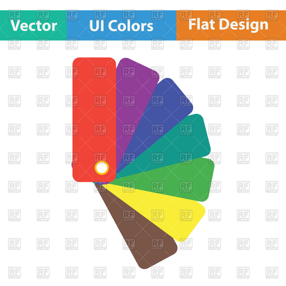 Color samples icon, flat color design Vector Image #122878.