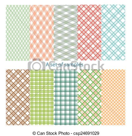 Vector Illustration of Set of original, color samples. csp24691029.