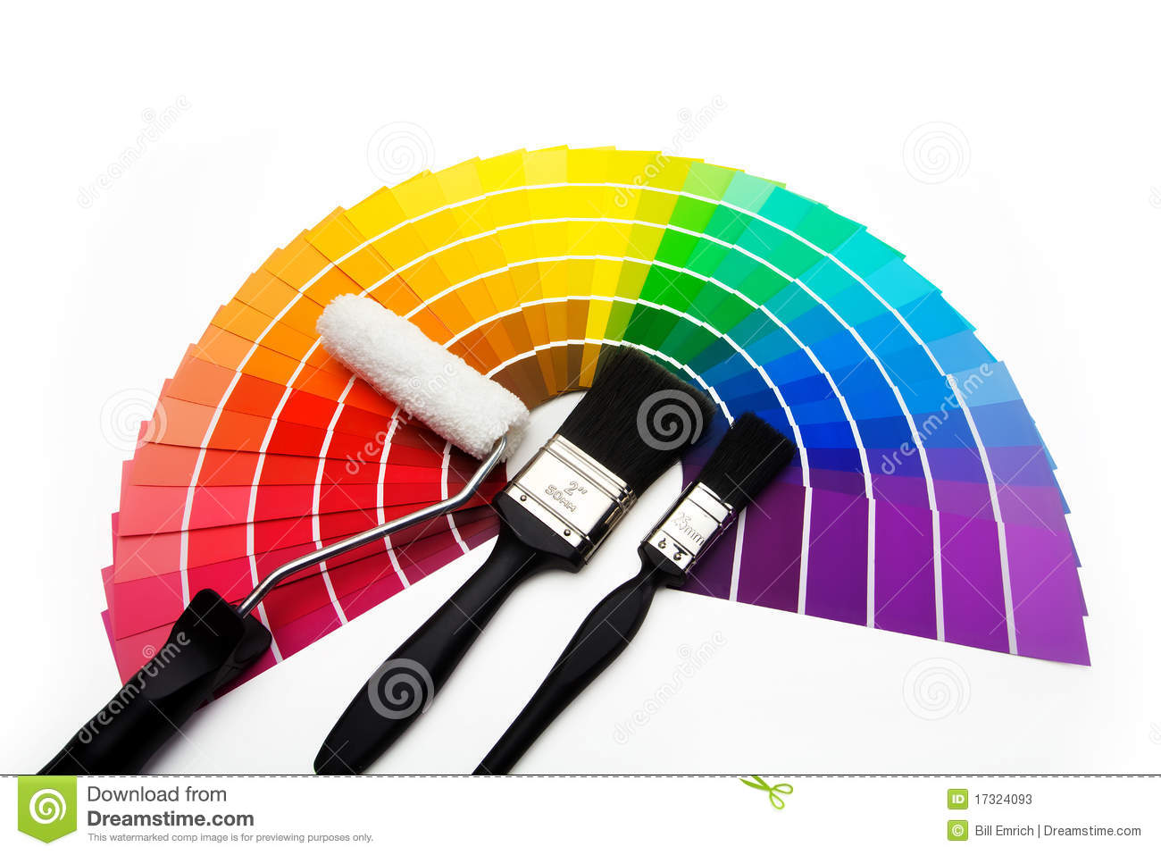 A Fan Of Colour Swatch Samples Stock Photos.