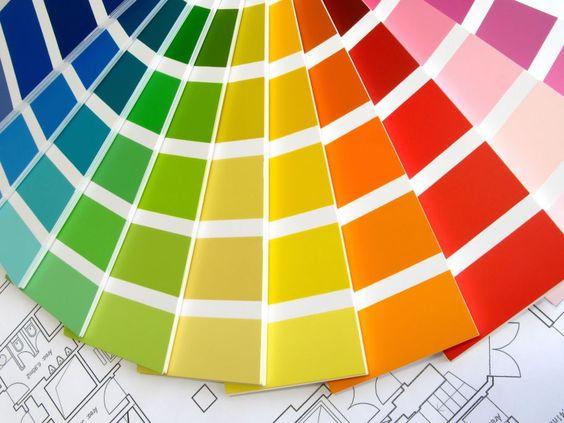 interior design paint swatches.