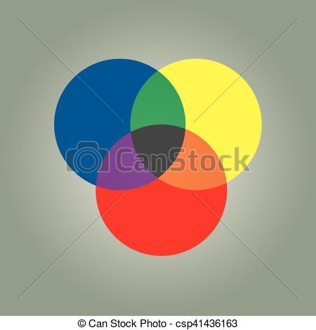 Clip Art Vector of circle graph color scheme.