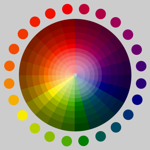 Color Shade and Tint Wheel.
