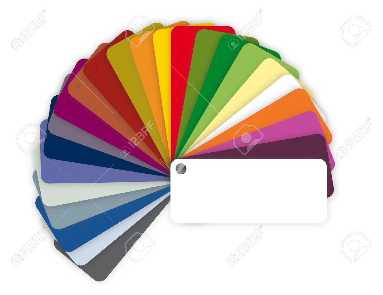 Illustration Of A Color Guide With Shades Over White Royalty Free.