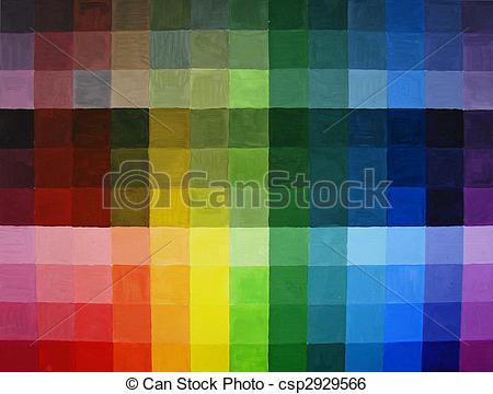 Stock Illustration of All colors in light and dark shades.