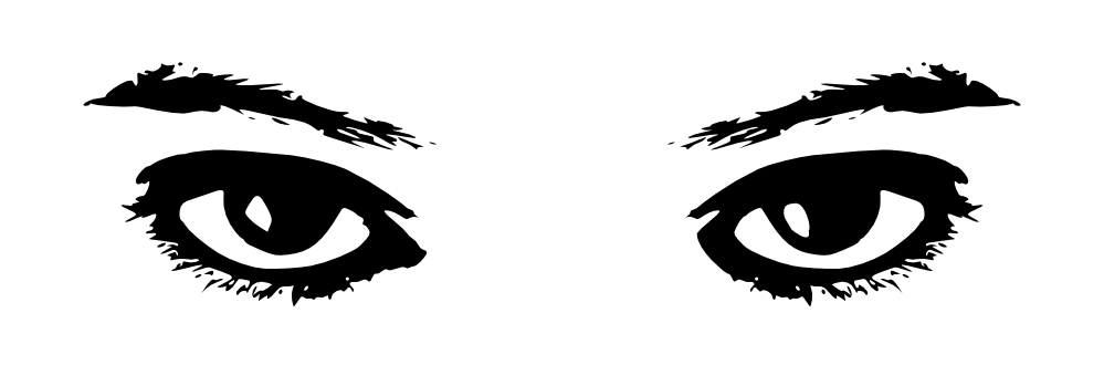 Eyes in book clipart.