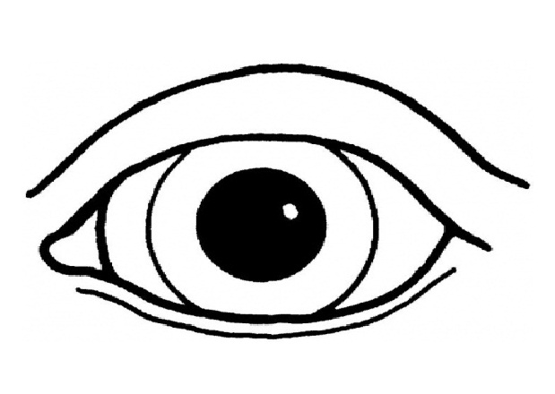 Color sheet clipart eyes.