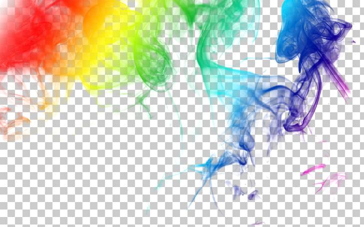 Colored smoke 0, Seven color misty smoke, rainbow color.