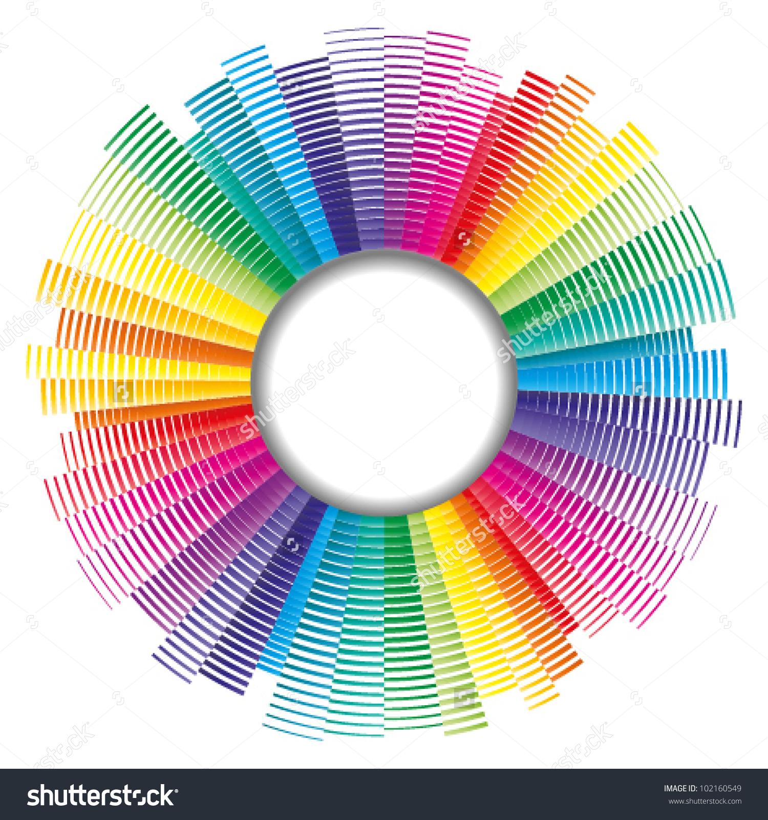 Vector Color Palette Color Spectrum Stock Vector 102160549.