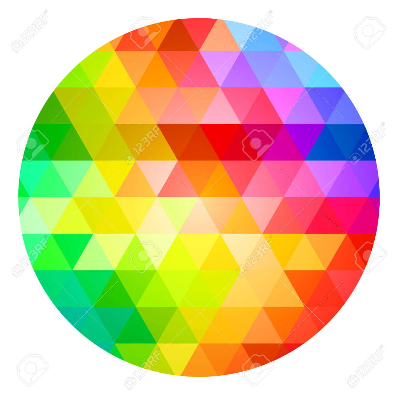 Circle Color Palette Guide Spectrum Vector Royalty Free Cliparts.