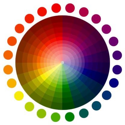 Color Spectrum Infographic.