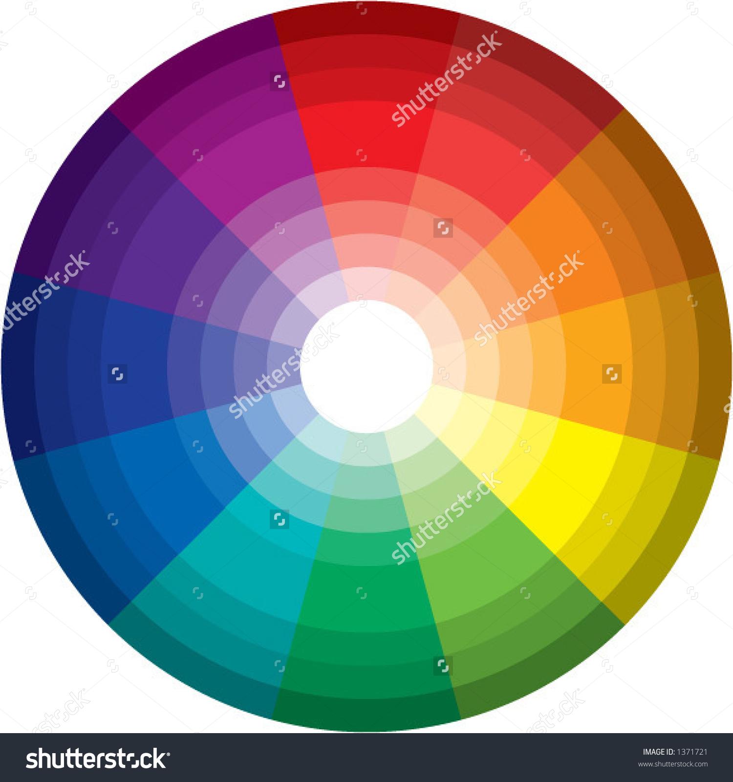 96 Color Spectrum Wheel Vector Stock Vector 1371721.