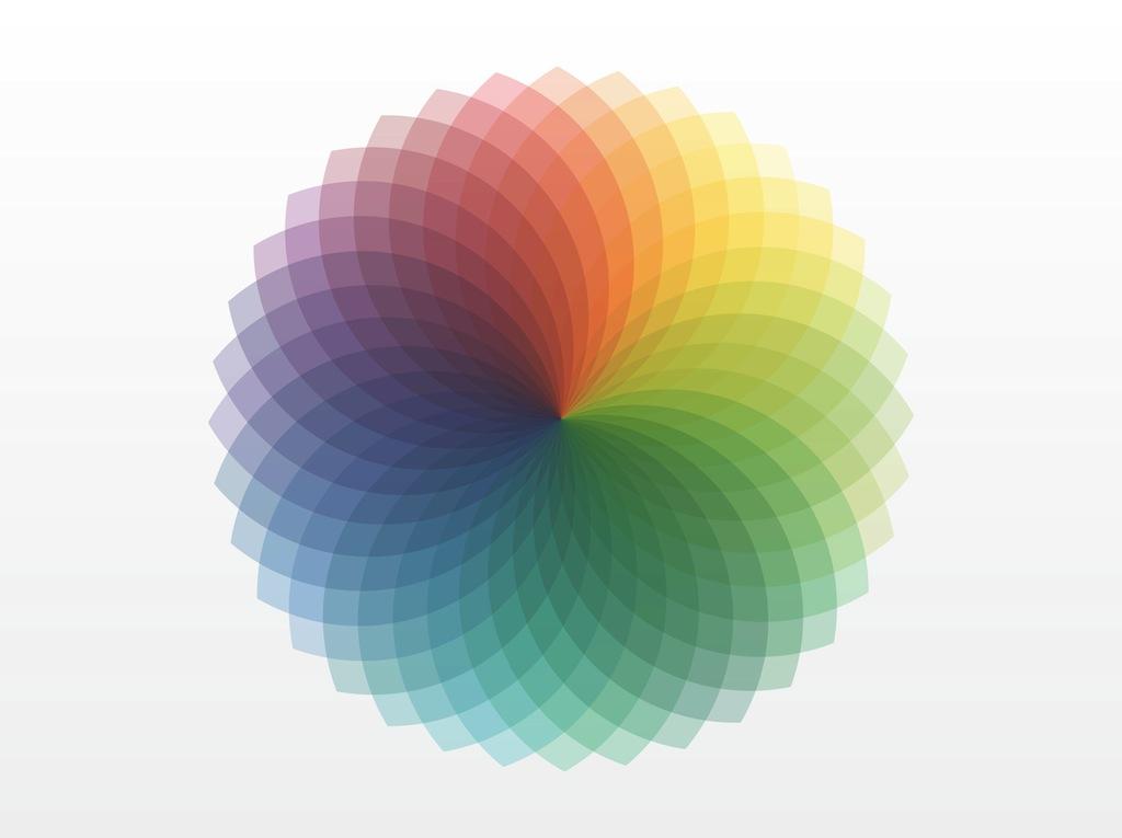 Color spectrum clipart.